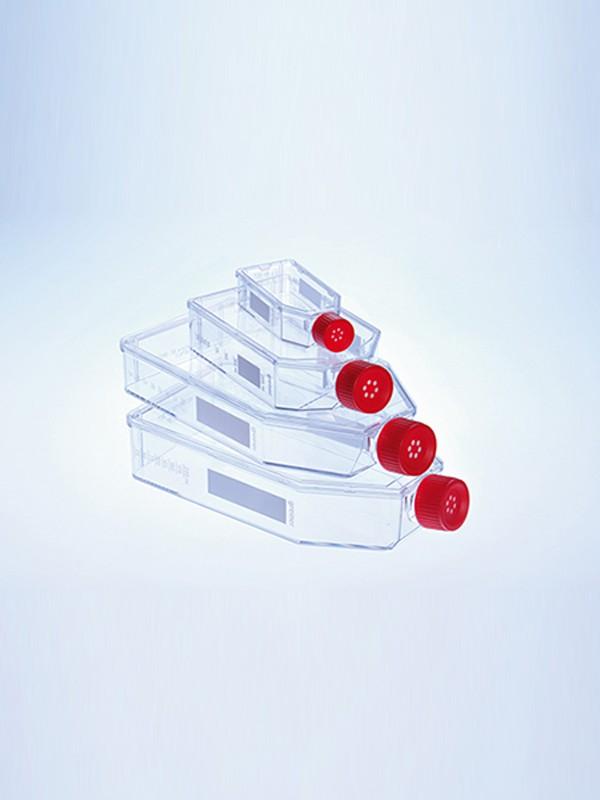 Frascos de cultivo celular estándar con tapón con filtro