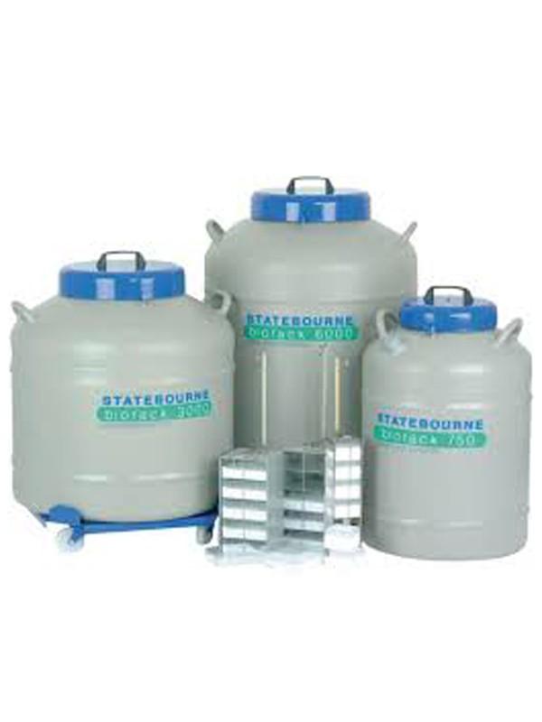 Contenedores de alta y super-alta capacidad para almacenamiento de muestras en nitrógeno líquido