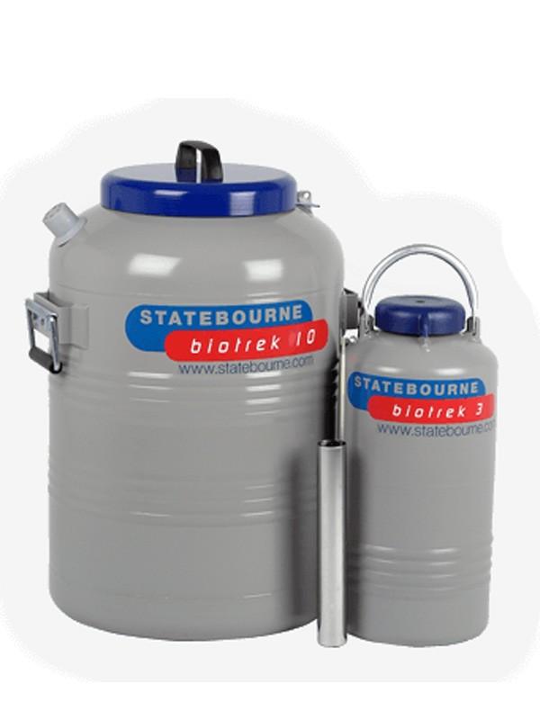 Transporte de muestras en nitrógeno líquido