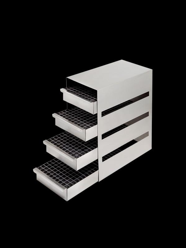 Rack horizontales con sistema de bandejas