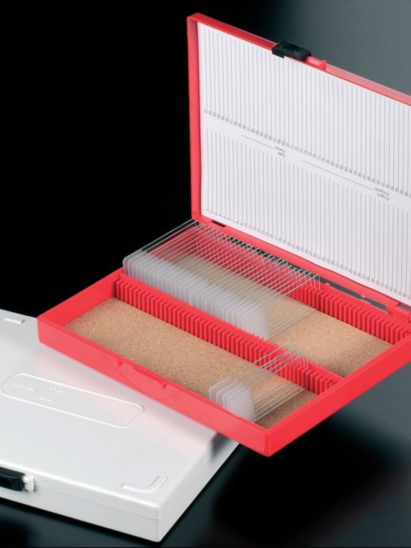 Caja para portaobjetos