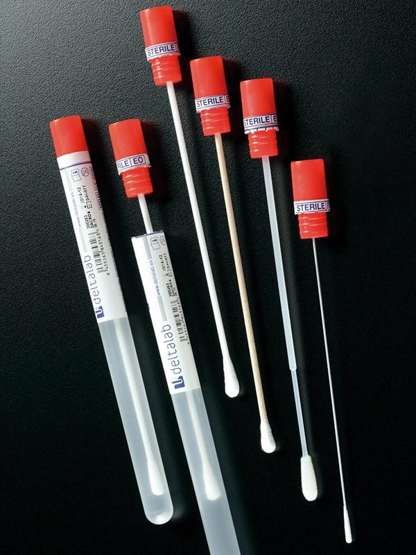 Escobillones en tubo, estériles