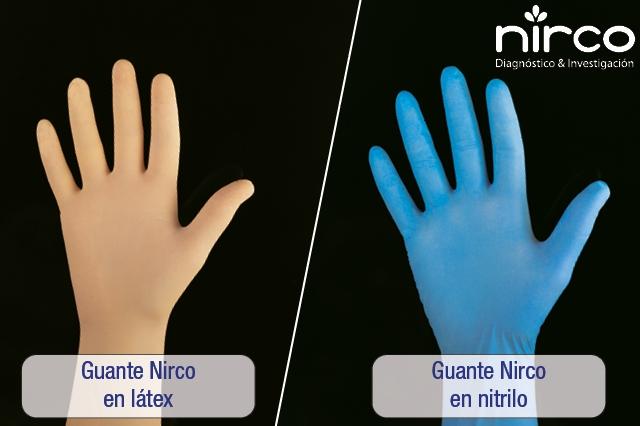Guantes Nirco en látex y nitrilo